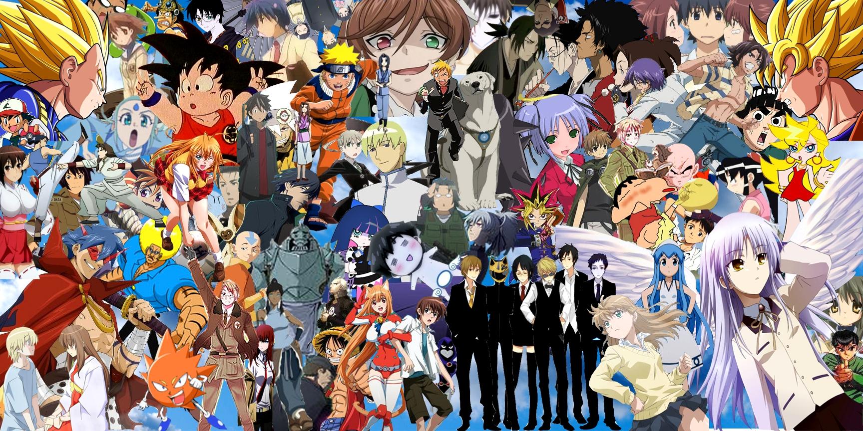 Картинки все вместе аниме