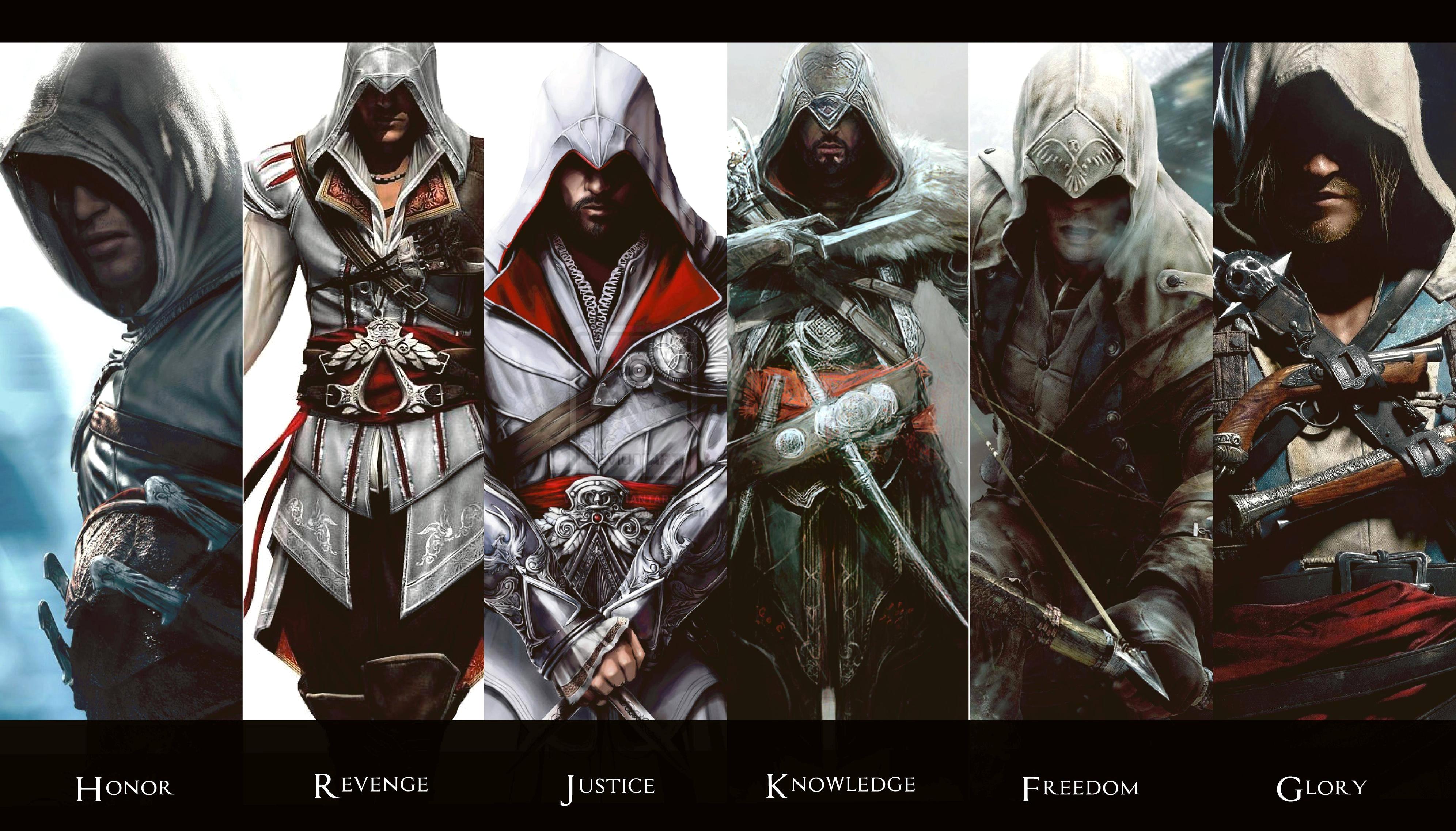 Фото всех персонажей из игры ассасин